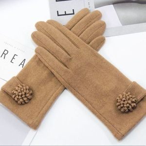 Accessories - 🍁 CASHMERE 🍁 COMING SOON Lux Winter Gloves Brown
